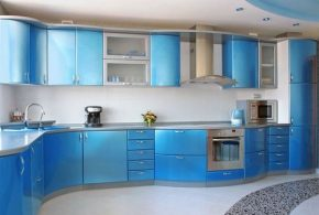 Угловая кухня по индивидуальным размерам на заказ фасады из мдф пластика стекла эмали фасад пленки kuh22531