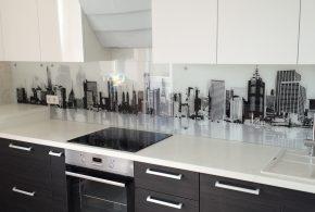 Прямая кухня по индивидуальным размерам на заказ фасады из лдсп мдф эмали фасад пленки kuh76329