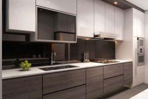 Прямая кухня по индивидуальным размерам на заказ фасады из лдсп мдф эмали фасад пленки kuh36908