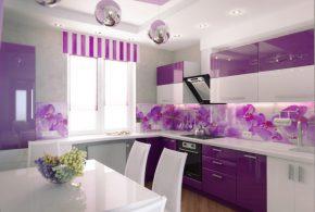 С подоконником кухня по индивидуальным размерам на заказ фасады из лдсп мдф эмали фасад пленки shk47411
