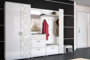Прихожая pri51905по индивидуальным размерам на заказ, материалы из лдсп мдф расцветка — черный серый в интернет магазине mebelblok.ru