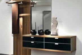 Прихожая pri92230по индивидуальным размерам на заказ, материалы из лдсп мдф расцветка — коричневый черный в интернет магазине mebelblok.ru