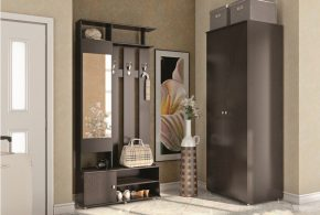 Прихожая pri56258по индивидуальным размерам на заказ, материалы из лдсп мдф расцветка — серый в интернет магазине mebelblok.ru
