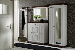 Прихожая pri46670по индивидуальным размерам на заказ, материалы из лдсп мдф расцветка — коричневый белый в интернет магазине mebelblok.ru