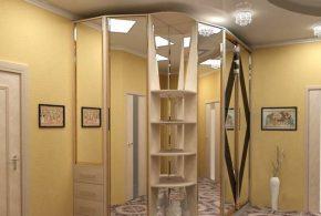Радиусный шкаф-купе на заказ в Москве из лдсп мдф shk79476