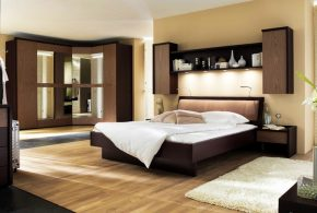 Спальня spa27566по индивидуальным размерам на заказ, материалы из лдсп мдф расцветка — коричневый бежевый в интернет магазине mebelblok.ru