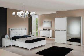 Спальня spa37428по индивидуальным размерам на заказ, материалы из лдсп мдф расцветка — серебристый белый в интернет магазине mebelblok.ru