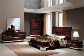 Спальня spa57374по индивидуальным размерам на заказ, материалы из лдсп мдф расцветка — коричневый в интернет магазине mebelblok.ru