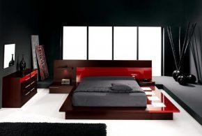 Спальня spa23824по индивидуальным размерам на заказ, материалы из лдсп мдф расцветка — красный коричневый в интернет магазине mebelblok.ru