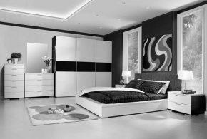 Спальня spa70445по индивидуальным размерам на заказ, материалы из лдсп мдф расцветка — черно-белый белый черный в интернет магазине mebelblok.ru