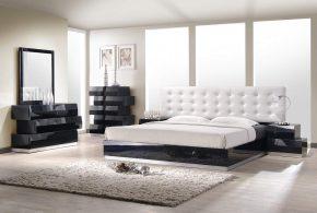 Спальня spa50053по индивидуальным размерам на заказ, материалы из лдсп мдф расцветка — белый черный серый в интернет магазине mebelblok.ru