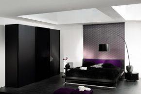 Спальня spa67057по индивидуальным размерам на заказ, материалы из лдсп мдф расцветка — черный в интернет магазине mebelblok.ru