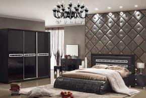 Спальня spa25600по индивидуальным размерам на заказ, материалы из лдсп мдф расцветка — черный в интернет магазине mebelblok.ru