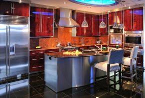 Островная кухня по индивидуальным размерам на заказ фасады из лдсп мдф фасад пленки kuh12665