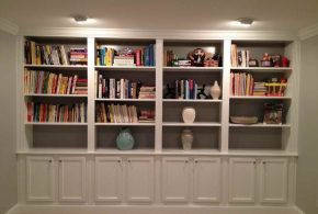 Библиотека bib35054 по индивидуальным размерам на заказ, материалы из дерева лдсп мдф расцветка — белый в интернет магазине mebelblok.ru