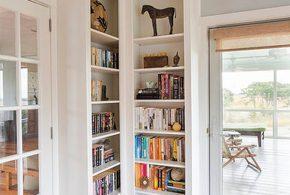 Библиотека bib15083 по индивидуальным размерам на заказ, материалы из лдсп мдф расцветка — белый в интернет магазине mebelblok.ru