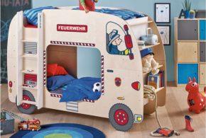Детская в виде автобуса det81703 по индивидуальным размерам на заказ, материалы из лдсп мдф расцветка — красный синий разноцвет бежевый интернет магазине mebelblok.ru