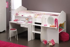 Детская функциональная det56617 по индивидуальным размерам на заказ, материалы из лдсп мдф расцветка — белый в интернет магазине mebelblok.ru