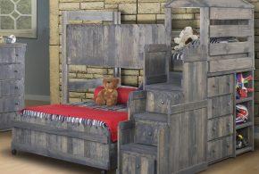 Детская в виде домика det94536 по индивидуальным размерам на заказ, материалы из массива дерева лдсп мдф расцветка — серый интернет магазине mebelblok.ru