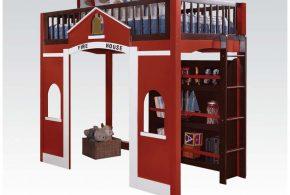 Детская в виде домика det85345 по индивидуальным размерам на заказ, материалы из лдсп мдф расцветка — красный разноцвет белый интернет магазине mebelblok.ru
