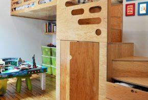 Детская функциональная det87414 по индивидуальным размерам на заказ, материалы из массива дерева лдсп мдф расцветка — коричневый в интернет магазине mebelblok.ru