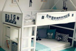 Детская в виде домика det23964 по индивидуальным размерам на заказ, материалы из лдсп мдф расцветка — белый интернет магазине mebelblok.ru