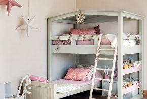 Детская в виде домика det51140 по индивидуальным размерам на заказ, материалы из лдсп мдф расцветка — белый серый интернет магазине mebelblok.ru