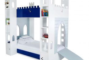 Детская в виде замка det99757 по индивидуальным размерам на заказ, материалы из лдсп мдф расцветка — синий белый интернет магазине mebelblok.ru