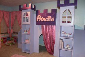Детская в виде замка det15449 по индивидуальным размерам на заказ, материалы из лдсп мдф расцветка — фиолетовый интернет магазине mebelblok.ru