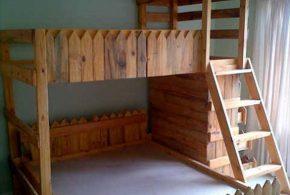 Детская в виде домика det43295 по индивидуальным размерам на заказ, материалы из массива дерева лдсп мдф расцветка — коричневый интернет магазине mebelblok.ru