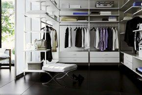 Гардеробная gar34547 по индивидуальным размерам на заказ, материалы из лдсп мдф расцветка — белый в интернет магазине mebelblok.ru