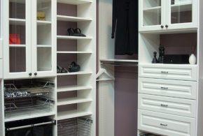 Гардеробная gar50475 по индивидуальным размерам на заказ, материалы из лдсп мдф расцветка — белый в интернет магазине mebelblok.ru
