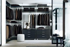 Гардеробная gar33709 по индивидуальным размерам на заказ, материалы из лдсп мдф расцветка — черный в интернет магазине mebelblok.ru