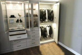 Гардеробная gar49400 по индивидуальным размерам на заказ, материалы из лдсп мдф расцветка — белый в интернет магазине mebelblok.ru