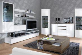 Гостинная gos83032 по индивидуальным размерам на заказ, материалы из лдсп мдф расцветка — белый в интернет магазине mebelblok.ru