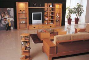 Гостинная gos26217 по индивидуальным размерам на заказ, материалы из массива дерева лдсп мдф расцветка — коричневый в интернет магазине mebelblok.ru