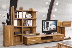 Гостинная gos43542 по индивидуальным размерам на заказ, материалы из массива дерева лдсп мдф расцветка — коричневый в интернет магазине mebelblok.ru