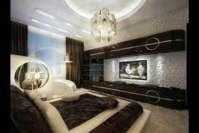 Гостинная gos85221 по индивидуальным размерам на заказ, материалы из лдсп мдф стекла расцветка — коричневый в интернет магазине mebelblok.ru