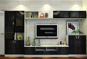 Гостинная gos44586 по индивидуальным размерам на заказ, материалы из лдсп мдф расцветка — черный серый в интернет магазине mebelblok.ru