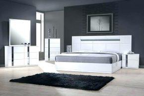 Спальня spa43665 по индивидуальным размерам на заказ, материалы из лдсп мдф эмали расцветка — серебристый белый в интернет магазине mebelblok.ru