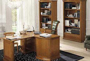 Кабинет kab12567 по индивидуальным размерам на заказ, материалы из дерева лдсп мдф расцветка — коричневый в интернет магазине mebelblok.ru