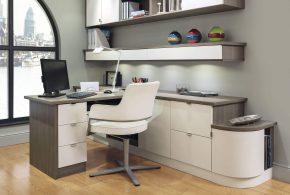 Кабинет kab84331 по индивидуальным размерам на заказ, материалы из лдсп мдф расцветка — белый серый в интернет магазине mebelblok.ru