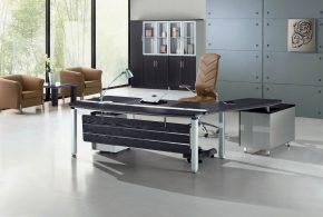 Кабинет kab56427 по индивидуальным размерам на заказ, материалы из лдсп мдф расцветка — черный серый в интернет магазине mebelblok.ru