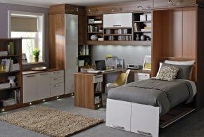 Кабинет kab88142 по индивидуальным размерам на заказ, материалы из лдсп мдф расцветка — коричневый серый в интернет магазине mebelblok.ru