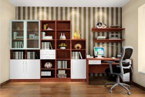 Кабинет kab62954 по индивидуальным размерам на заказ, материалы из лдсп мдф стекла расцветка — коричневый белый в интернет магазине mebelblok.ru
