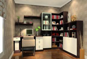 Кабинет kab89845 по индивидуальным размерам на заказ, материалы из лдсп мдф расцветка — коричневый белый в интернет магазине mebelblok.ru