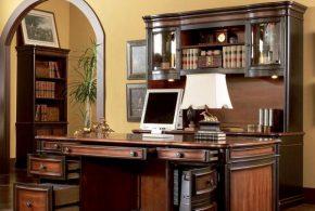 Кабинет kab65141 по индивидуальным размерам на заказ, материалы из дерева лдсп мдф расцветка — коричневый в интернет магазине mebelblok.ru