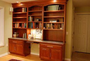 Кабинет kab24414 по индивидуальным размерам на заказ, материалы из дерева лдсп мдф расцветка — коричневый в интернет магазине mebelblok.ru