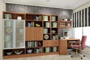 Кабинет kab57379 по индивидуальным размерам на заказ, материалы из лдсп мдф стекла расцветка — коричневый в интернет магазине mebelblok.ru