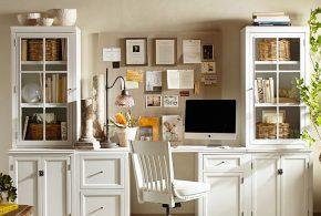 Кабинет kab42819 по индивидуальным размерам на заказ, материалы из дерева лдсп мдф расцветка — белый в интернет магазине mebelblok.ru